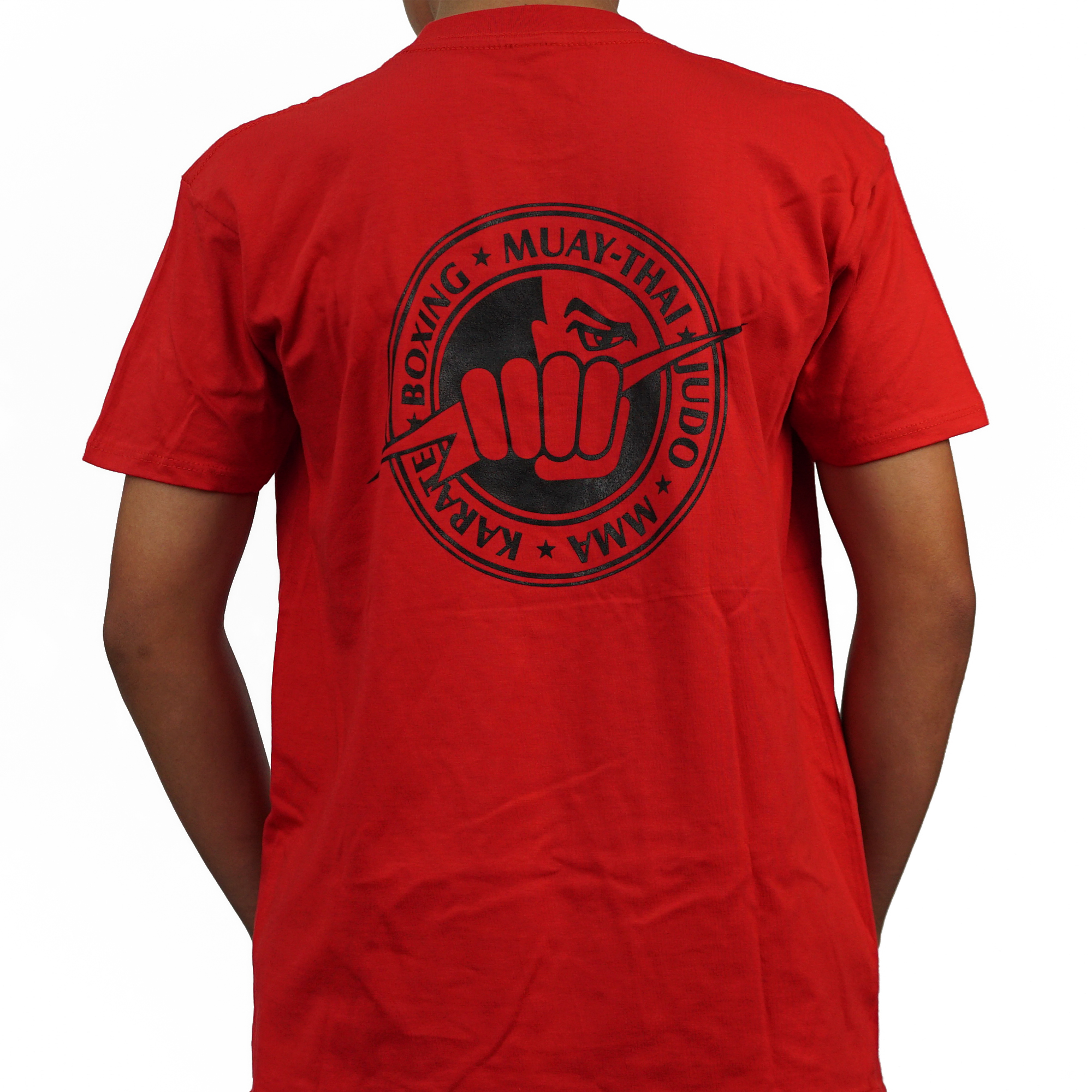 Glendale Fighting Club Shirt - Red w/ Black Writing & Logo