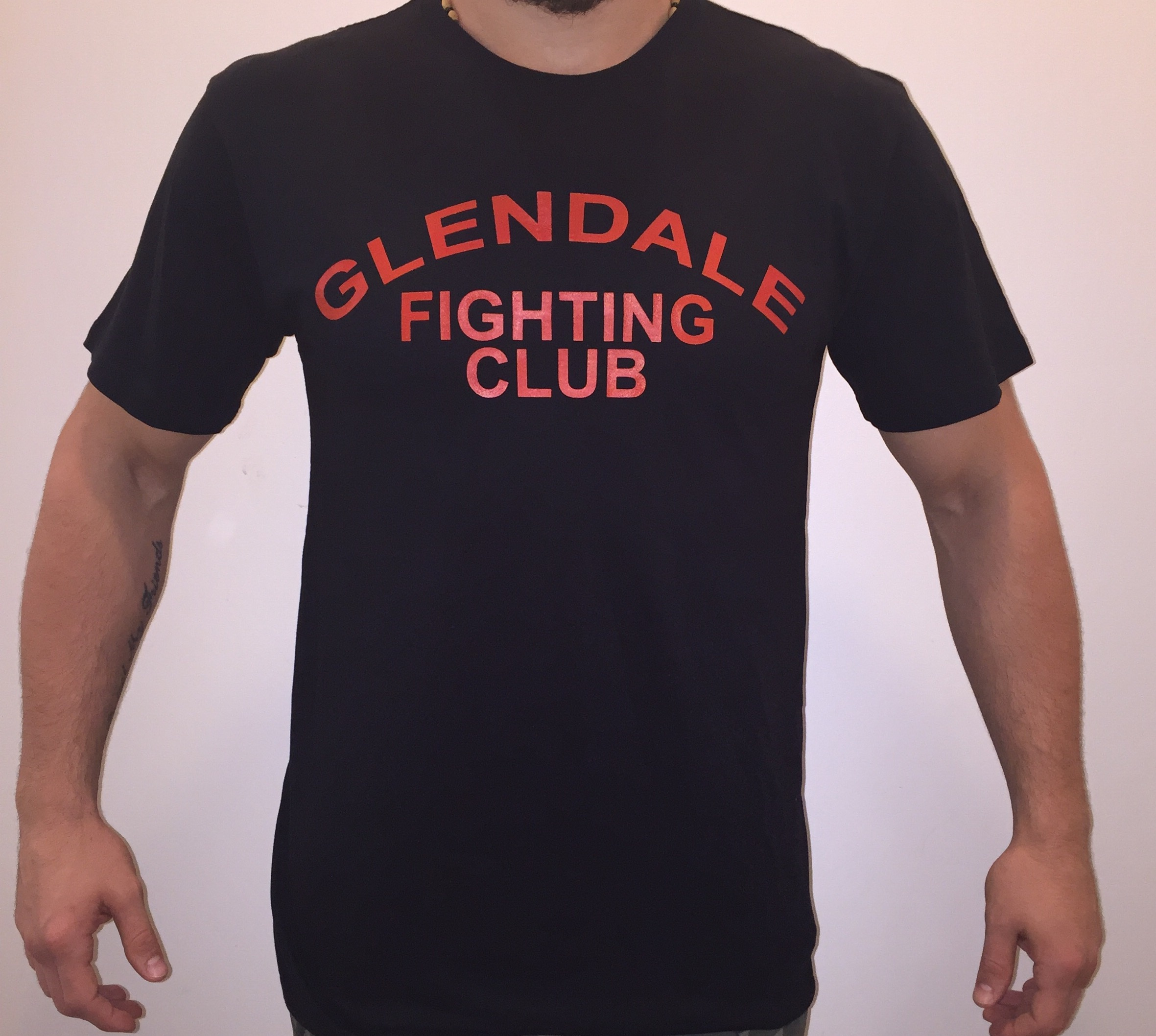 adult gfc t shirt black with red lettering