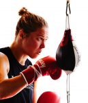 20151017 R. Rousey - Speed Bag 002